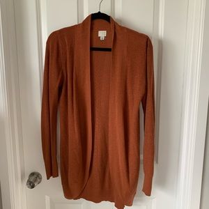 A new day rust cardigan s
